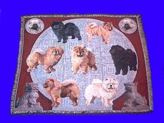Chow Chow Blanket Throw Tapestry Afghan