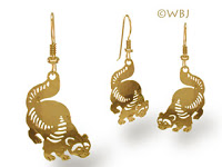 Michigan Wolverine Earrings Jewelry