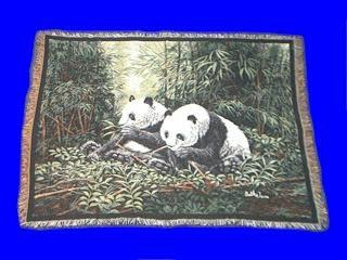 Panda Bear Throw Blanket Tapestry