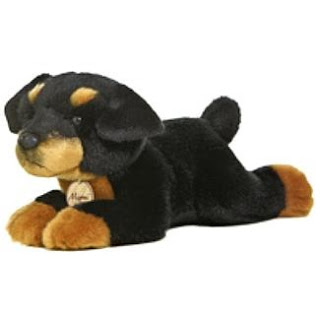 Rocky Rottweiler Stuffed Animal Plush Toy