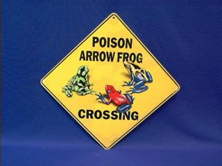 Poison Dart Frog Sign