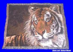 Tiger Throw Blanket Tapestry Afghan