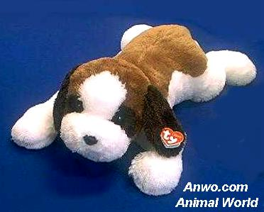 Saint Bernard Stuffed Animal Plush TY Yodel