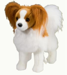 Papillon Stuffed Animal Plush Toy Feathers