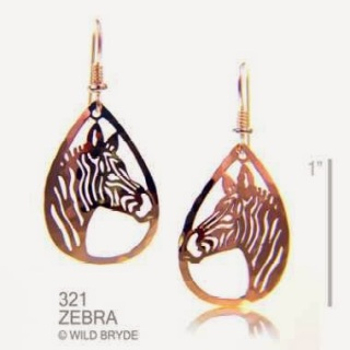 Zebra Earrings Jewelry Gold French Curve