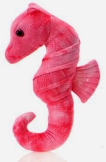 Pink Seahorse Plush Stuffed Animal Toy