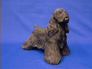 Sandicast Black Cocker Spaniel Figurine Statue OS488