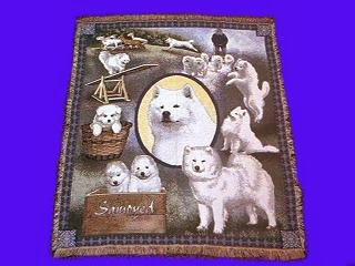 Samoyed Throw Blanket Tapestry Afghan