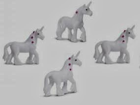 unicorn toy mini good luck miniature