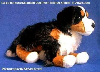 Large Bernese Mountain Dog Plush Toy Stuffed Animal