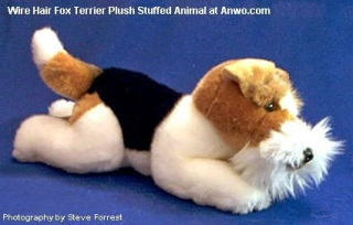 Wire Hair Fox Terrier Plush Stuffed Animal Toy