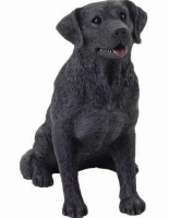 Black Lab Figurine Sandicast Statue MS 13011