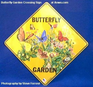 Butterfly Garden Crossing Sign