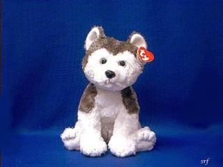 TY Slush Siberian Husky Plush Stuffed Animal Toy