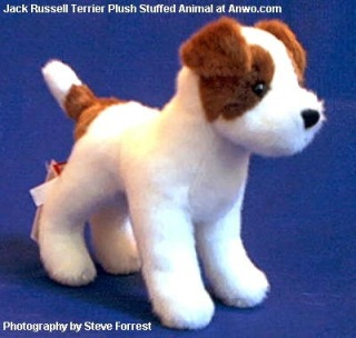 Jack Russell Terrier Plush Stuffed Animal Toy Dog