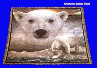 Polar Bear Blanket Throw Tapestry