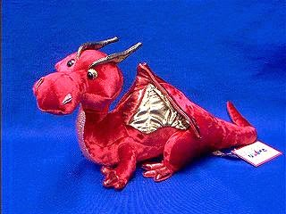 Red Dragon Stuffed Animal Plush Toy Ruby