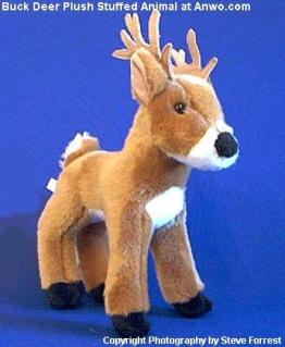 Whitetail Buck Deer Plush Stuffed Animal Toy