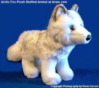 Arctic White Fox Plush Stuffed Animal Toy