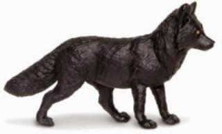 Black Fox Toy Miniature Replica