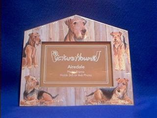 Airedale dog picture frame