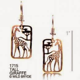 Gold Giraffe Earrings USA