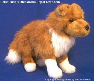 Collie Plush Stuffed Animal Toy Dog