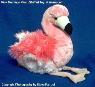 Pink Flamingo Plush Stuffed Animal Toy Cotton Candy